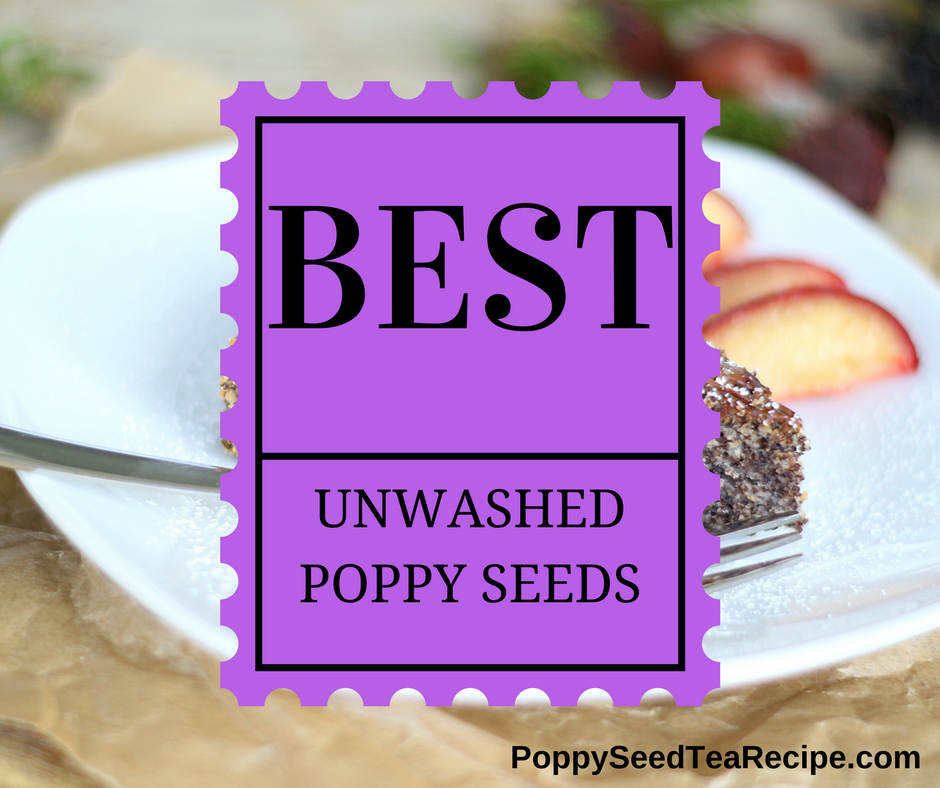 how to tell if poppy seeds are unwashed