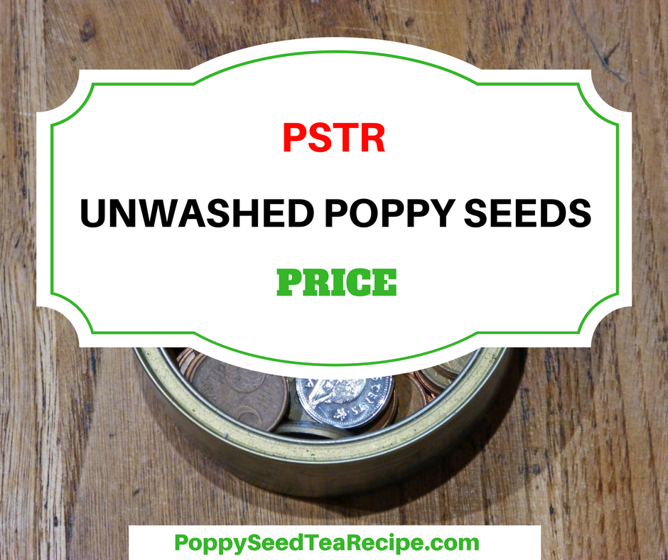 price of unwashed poppy seeds